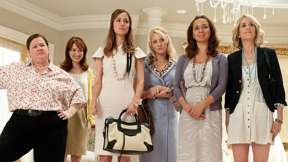 """Six actresses – (L to R) Melissa McCarthy, Ellie Kemper, Rose Byrne, Wendi McLendon-Covey, Maya Rudolph and Kristen Wiig – from the hit comedy """"Bridesmaids"""" will be presenters at the 84th Academy Awards, telecast producers Brian Grazer and Don Mischer announced today. All six will be making their first Oscar show appearances."""